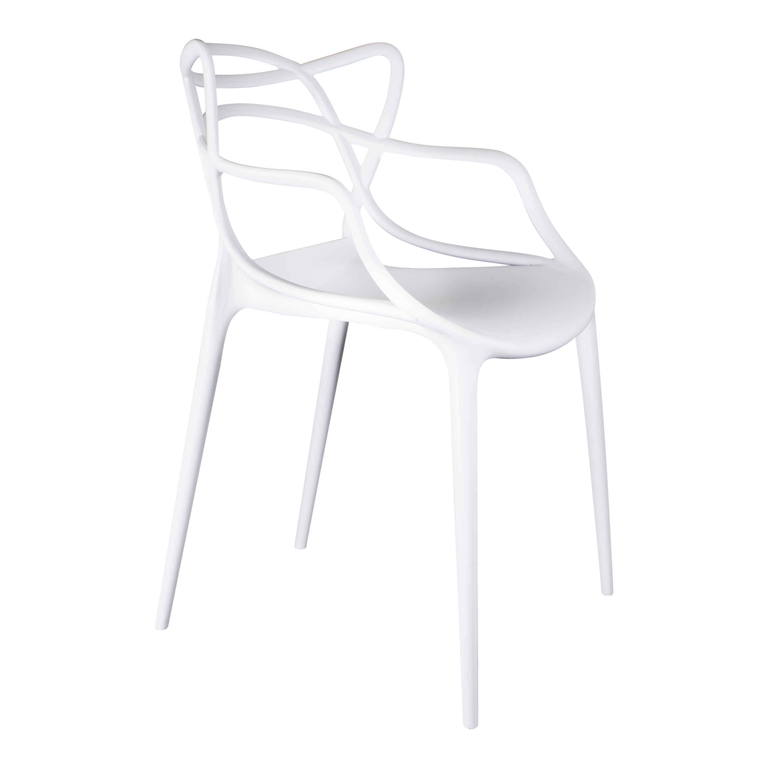 Witte Kunststof Design Stoelen.Eetkamerstoelen Design Stoel Flinder Wit
