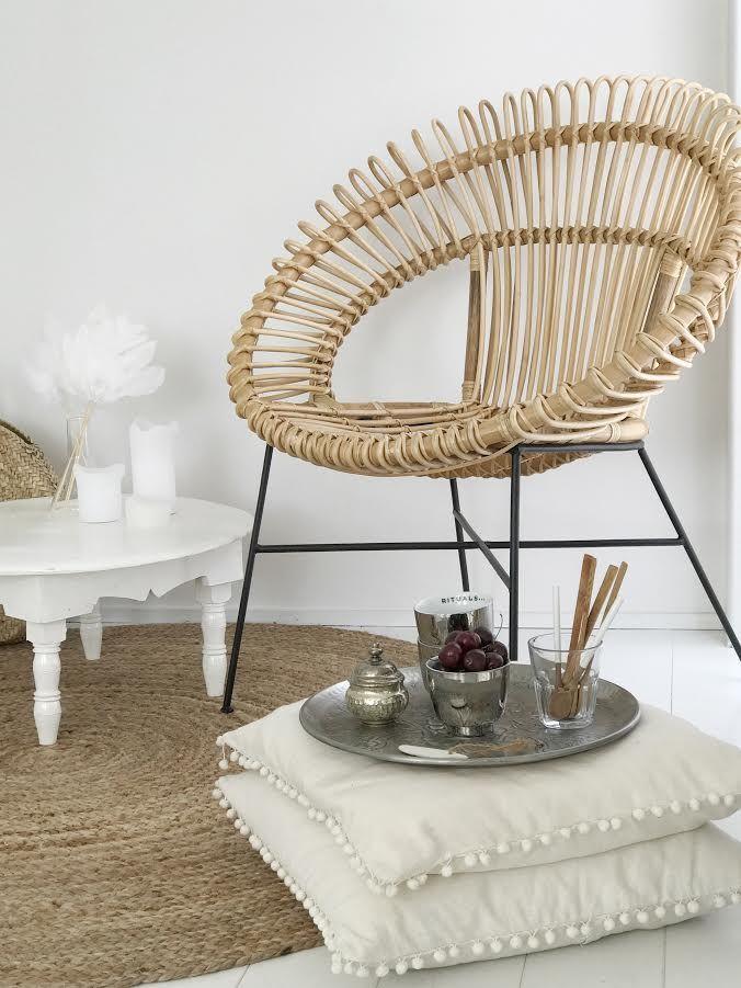 Rotan fauteuil bali tuinstoelen - Rotanbank plaatsen ...