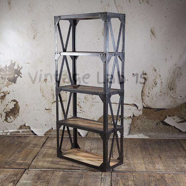 Industriu00eble stelling kast - Vintagelab15.com